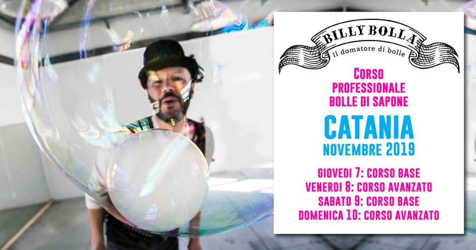 Corso professionale bolle di sapone a Catania