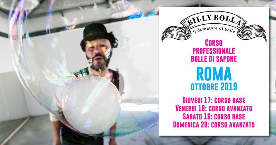 Corso professionale bolle di sapone a Roma