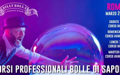 Corso professionale bolle di sapone a Roma 14-17 marzo 2020