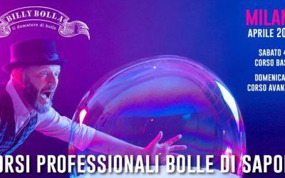 Corso professionale bolle di sapone a Milano 4-5 aprile 2020